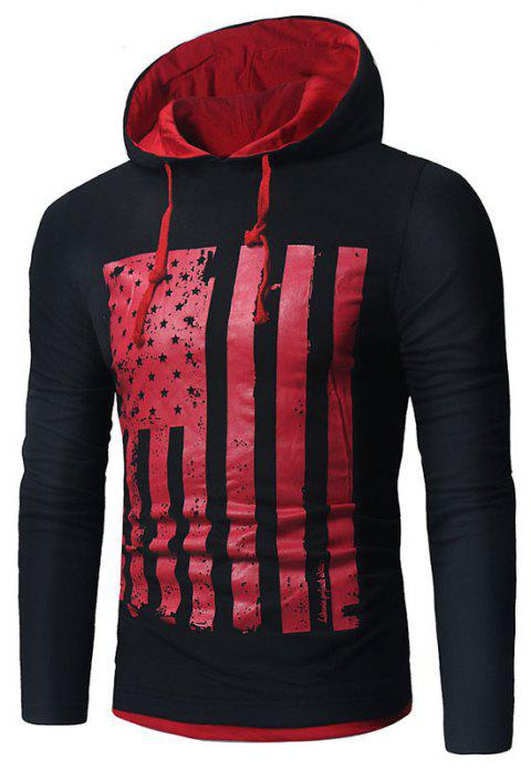 Men's New National Flag Fashion Print Hoodie - NIGHT L