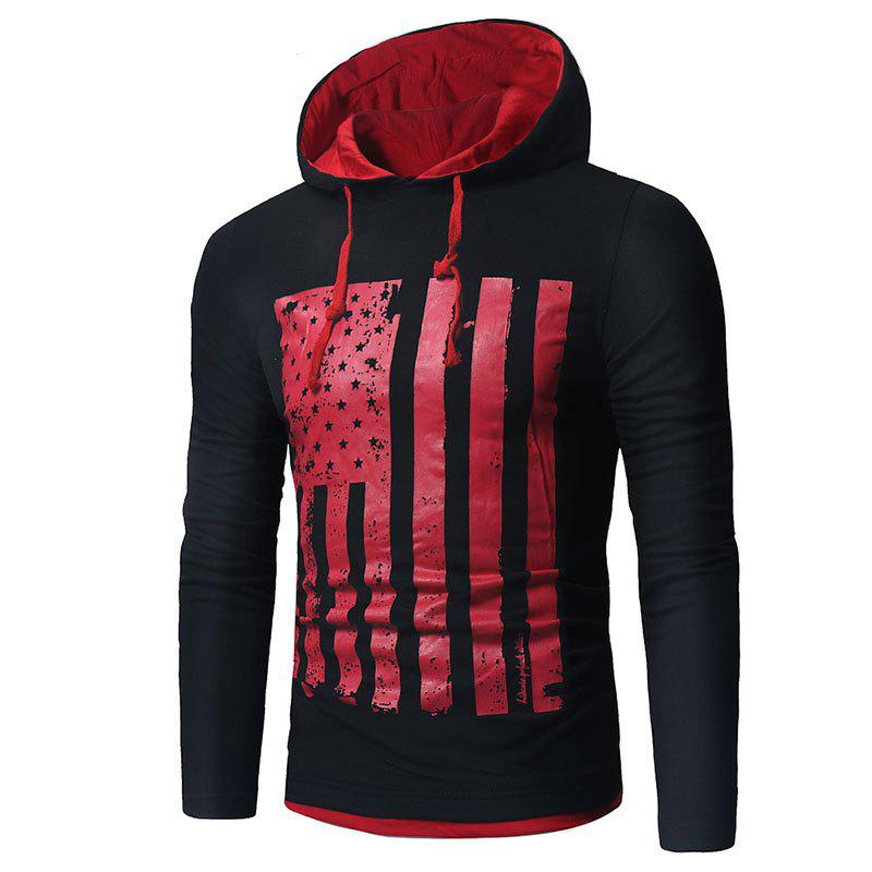 Men's New National Flag Fashion Print Hoodie - NIGHT XL