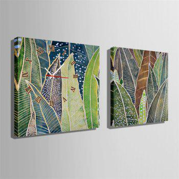 Special Design Frame Paintings Banana Leaf Print 2PCS - multicolor 24 X 24 INCH (60CM X 60CM)