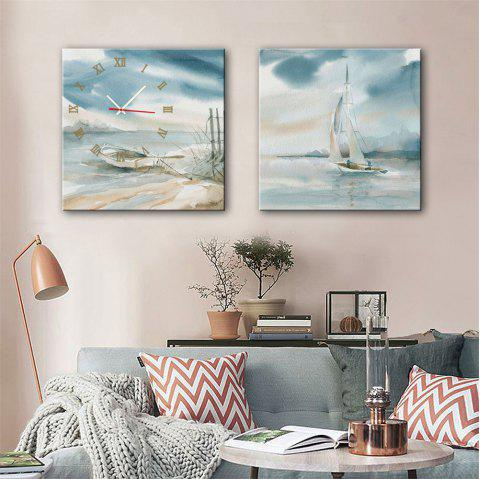 Special Design Frame Paintings Stay and Travel Print 2PCS - multicolor 16 X 16 INCH (40CM X 40CM)