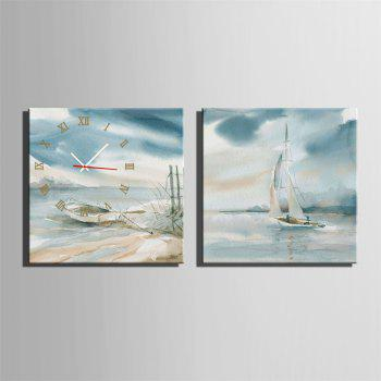 Special Design Frame Paintings Stay and Travel Print 2PCS - multicolor 12 X 12 INCH (30CM X 30CM)