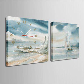 Special Design Frame Paintings Stay and Travel Print 2PCS - multicolor 20 X 20 INCH (50CM X 50CM)