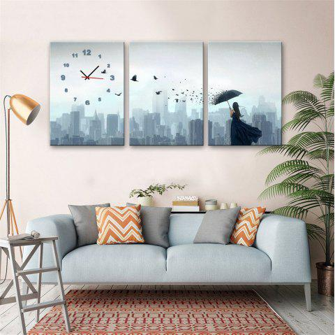 Special Design Frame Paintings Single Print 3PCS - JET GRAY 20 X 28 INCH (50CM X 70CM)
