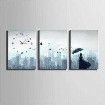 Special Design Frame Paintings Single Print 3PCS - JET GRAY 9 X 13 INCH (24CM X 34CM)