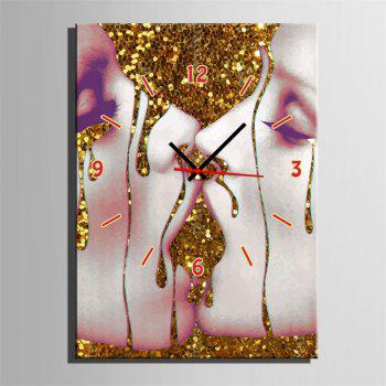 Special Design Frame Paintings Kissing Print - multicolor 20 X 14 INCH (50CM X 35CM)
