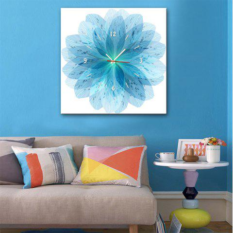 Special Design Frame Paintings Blue Petals Print - GLACIAL BLUE ICE 20 X 20 INCH (50CM X 50CM)