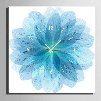 Special Design Frame Paintings Blue Petals Print - GLACIAL BLUE ICE 16 X 16 INCH (40CM X 40CM)