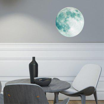 Creative Moon Children's Room  Noctilucent Wall Sticker - multicolor A