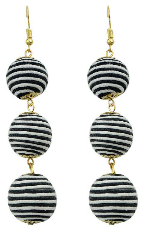 Gold-color Chain Colorful Dangle Earrings - multicolor