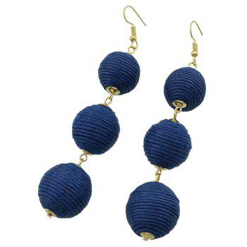 Gold-color Chain Colorful Dangle Earrings - BLUE JAY