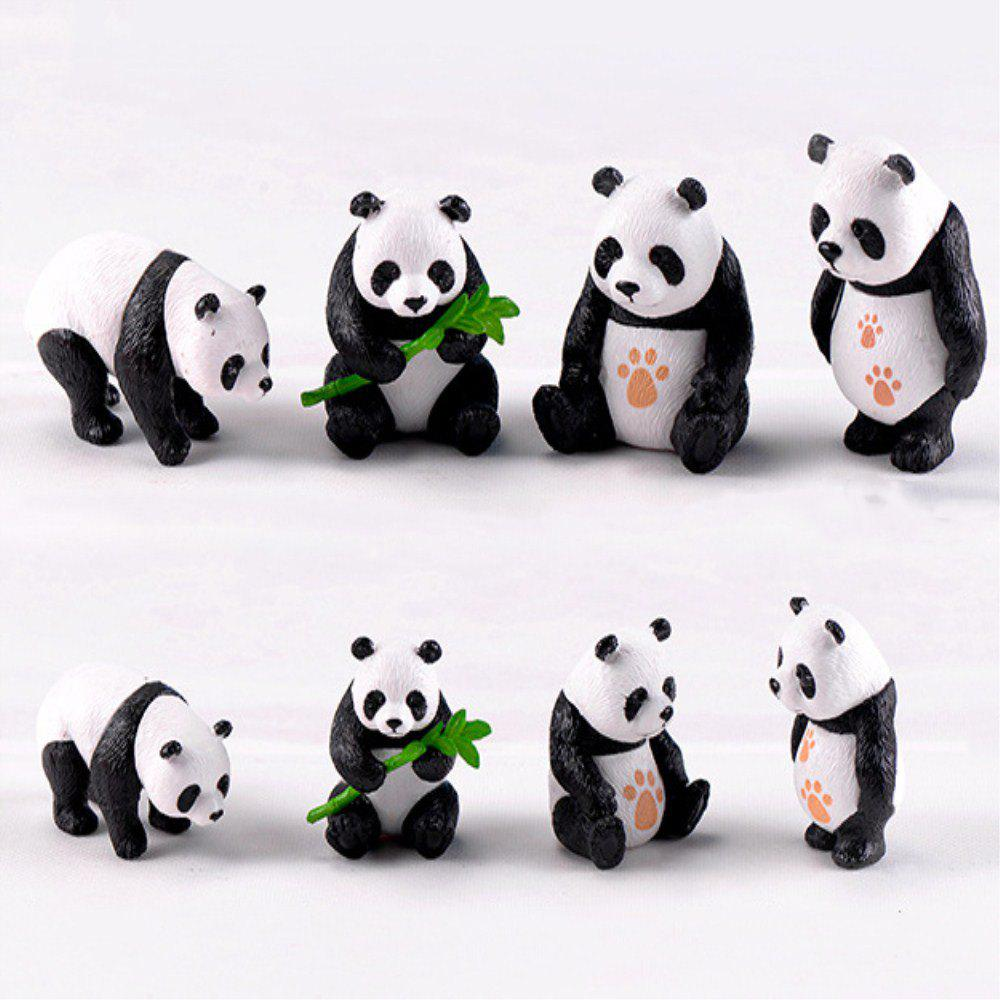 Chinese Giant Panda Dolls Creative Home Furnishing 8PCS - multicolor A