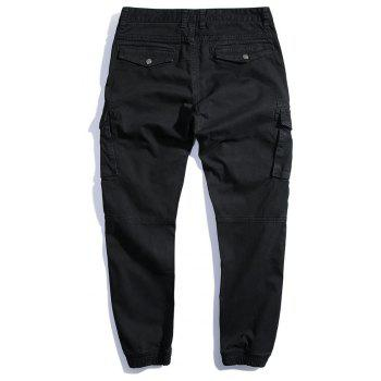 Summer Pure Cotton Trendy Casual Trousers - BLACK 33