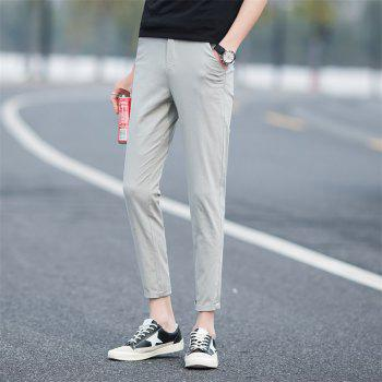 Summer Men's Fashion and Leisure Trousers - LIGHT GRAY 36