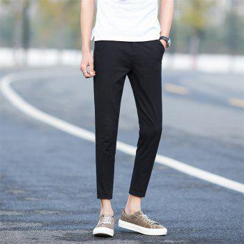 Summer Men's Fashion and Leisure Trousers - BLACK 36