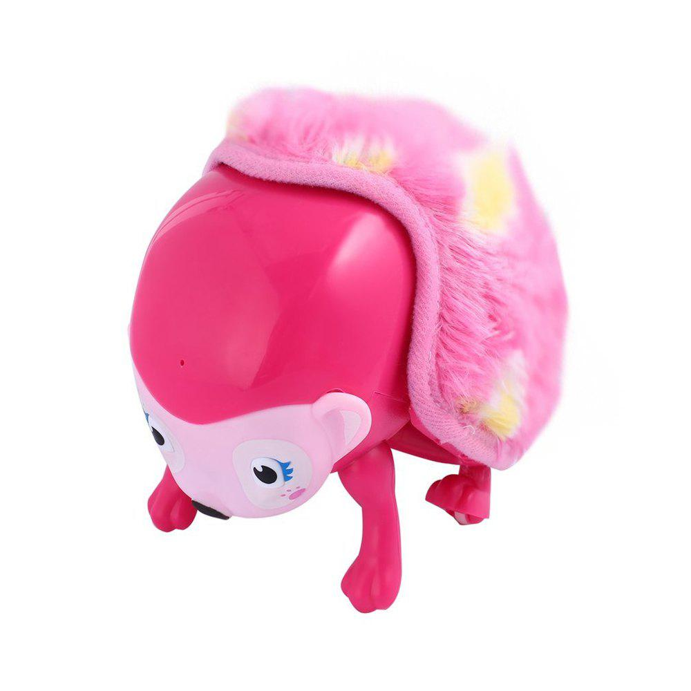 Intellisense Hedgehog Rolled Fluffy Touch Pet Toys - PINK