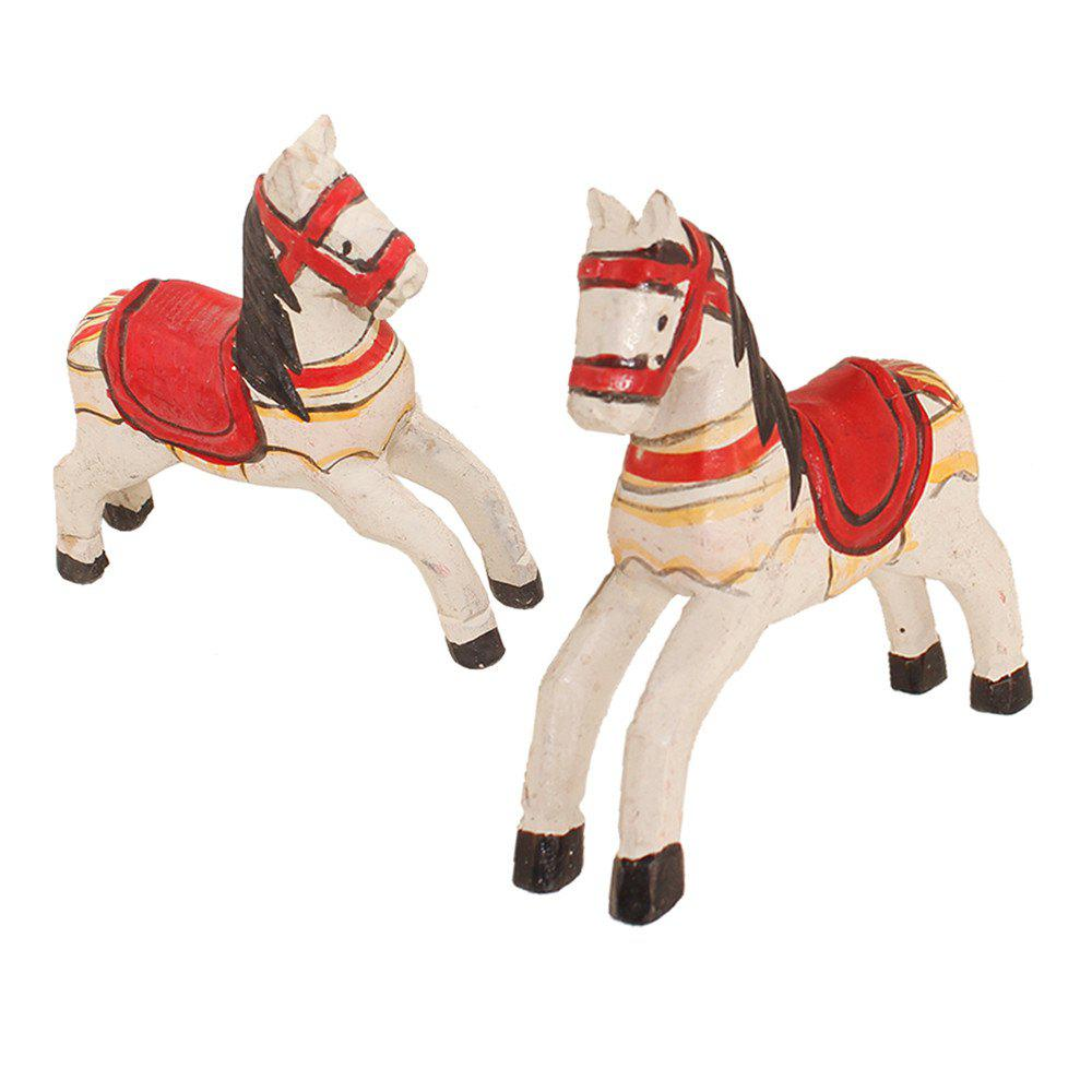 Horse Crafts Handpainted Painted Home Decoration - WHITE
