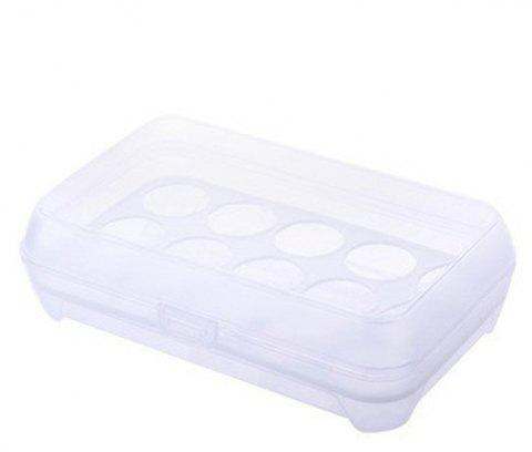 15 Lattice Egg Carton Portable Kitchen Crisper - WHITE