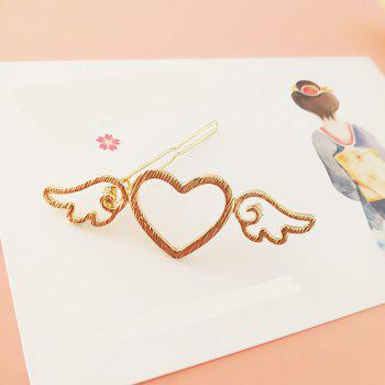 The New Fashion Japanese Metal Wind Wings Hairpin - GOLD
