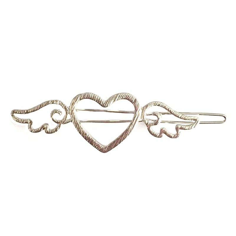 The New Fashion Japanese Metal Wind Wings Hairpin - SILVER