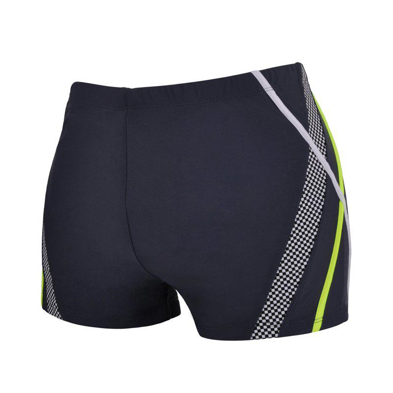 Men Loose Quick-Drying Boxer Swimming Trunks - JET GRAY 2XL