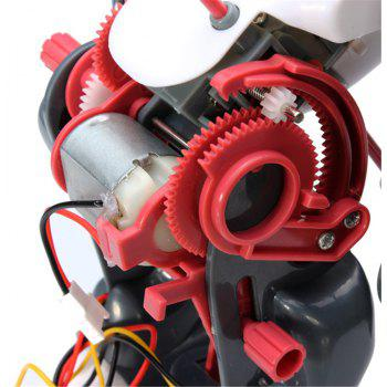 Creative DIY Electric Tumbling Robot Children Puzzle Toy - multicolor A
