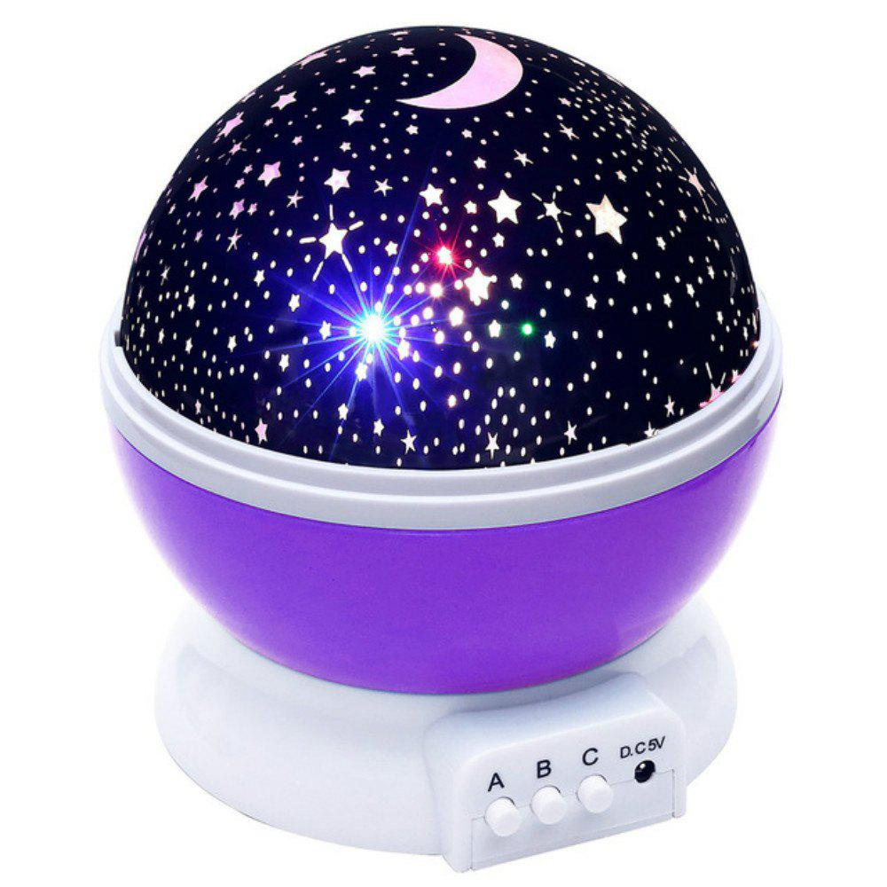 Automatic Rotary Star Projector Moon Colorful USB Led Night Lights led night light ocean wave projector starry sky aurora star light lamp luminaria baby nightlight gift battery powered led lights