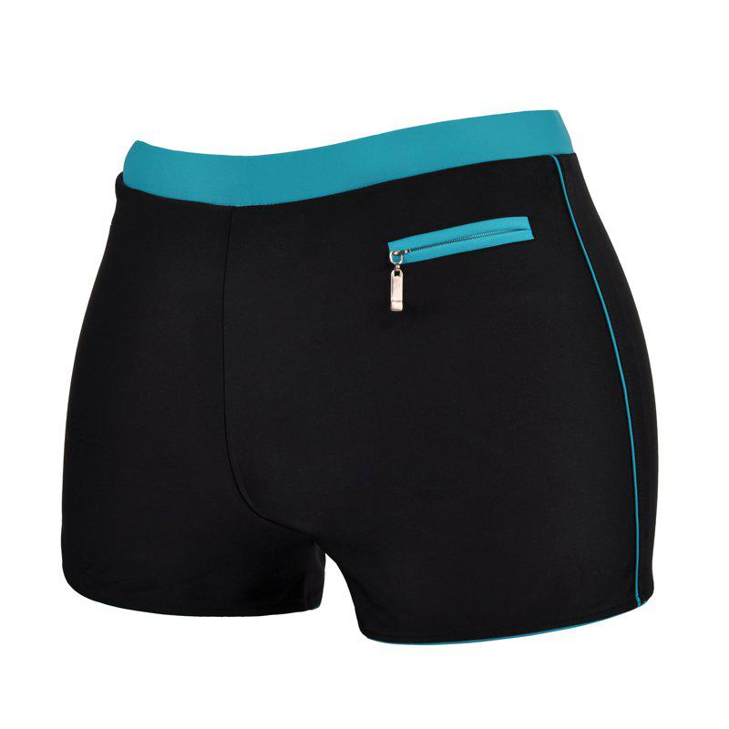 Men's Professional Quick-Drying Boxer Swimming Trunks - BLACK XL
