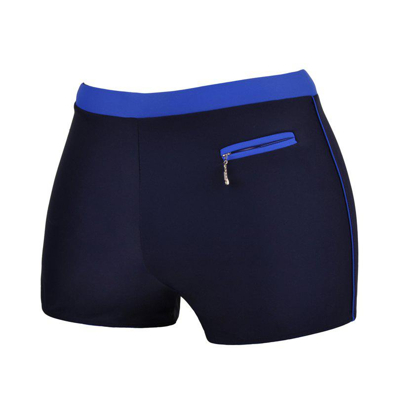 Men's Professional Quick-Drying Boxer Swimming Trunks - DEEP BLUE L
