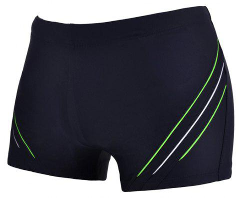 Man Comfortable Chloride Boxer Swimming Trunks - DEEP BLUE XL