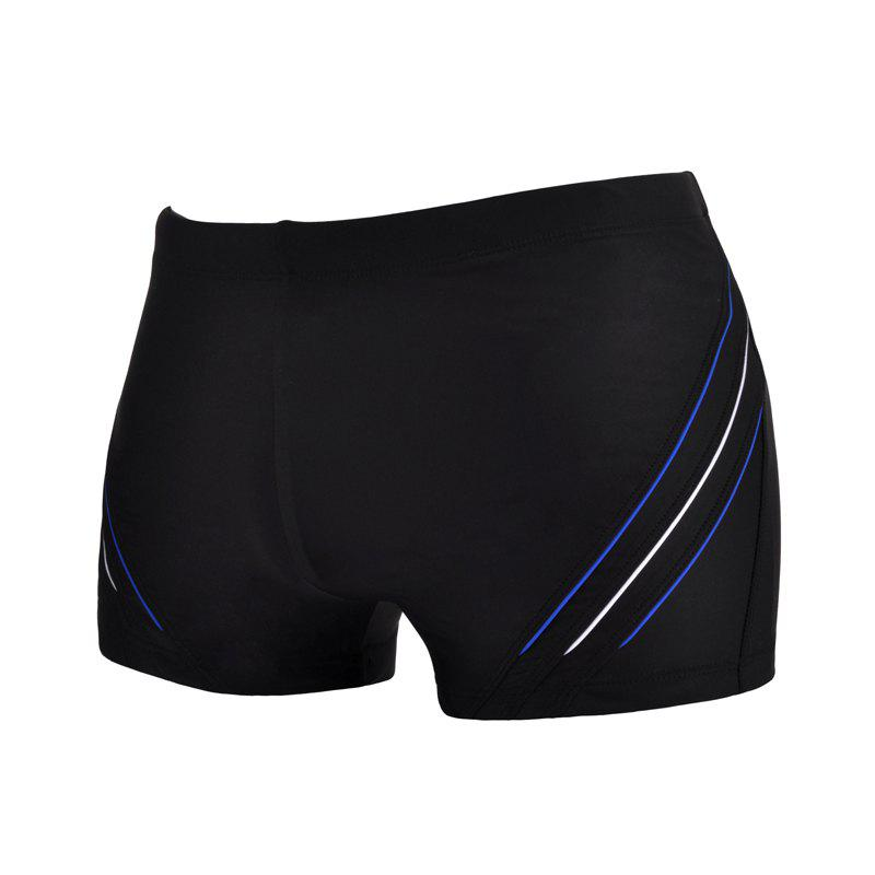 Man Comfortable Chloride Boxer Swimming Trunks - NATURAL BLACK 2XL