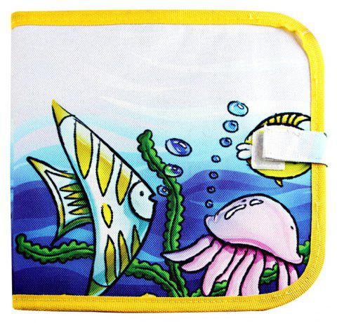 Children Portable Early Enlightenment Learning Graffiti Colored Drawing Board - YELLOW