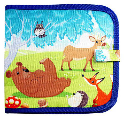 Children Portable Early Enlightenment Learning Graffiti Colored Drawing Board - BLUE