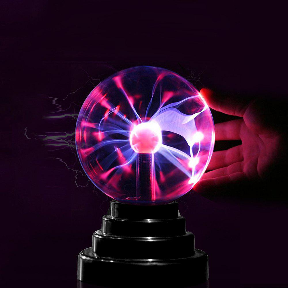 Gifted Touching Decoration Glass Plasma Ball Lamp - NATURAL BLACK