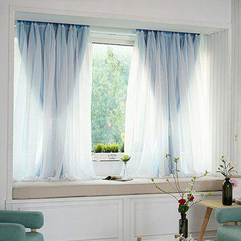 KoreanLace Full Shade Pure Curtains Finished Products Simple Modern Windows - DAY SKY BLUE 200CM X 260CM