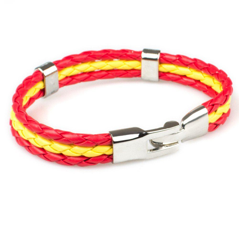 2018 Fashion National Flags Knitted Wrist Chain Bracelets waugh e put out more flags