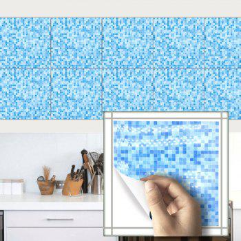 Mosaic Sticker for Ceramic Tile Waterproof Wallpaper for Kitchen Bathroom Wall - DAY SKY BLUE 20CM X 20CM