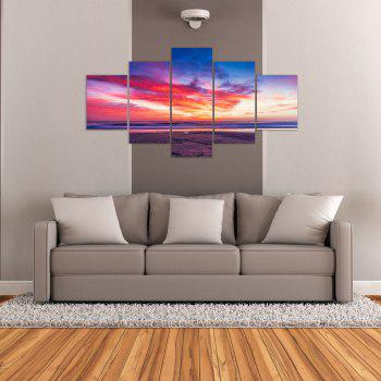 W322 Scenery Unframed Wall Canvas Prints for Home Decorations 5PCS - multicolor A