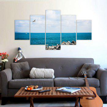 W323 Sea Landscape Unframed Wall Canvas Prints for Home Decorations 5PCS - multicolor A