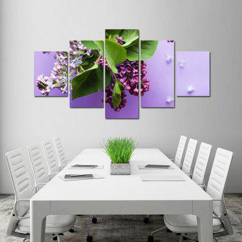W328 Flowers Unframed Wall Canvas Prints for Home Decorations 5PCS - multicolor A