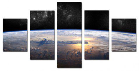 W339 Horizon Scenery Unframed Wall Canvas Prints for Home Decorations 5PCS - multicolor A