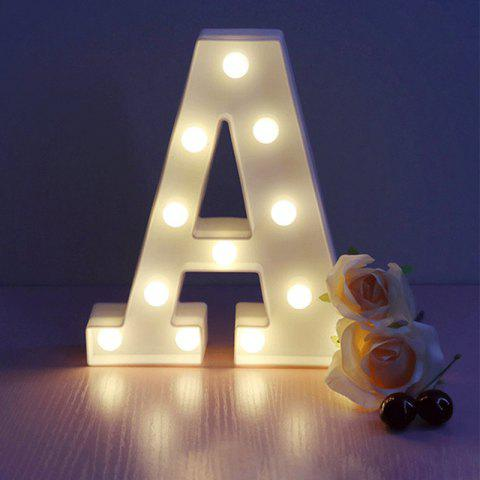 LED Light 26 Letters Festival Lovely Decoration Multi-Function Light - multicolor A A