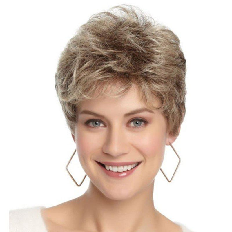 Sexy Fluffy Tilted Frisette Wig - LIGHT KHAKI 12INCH