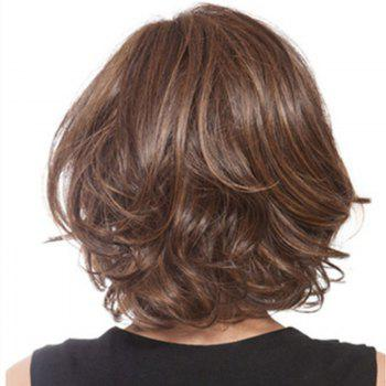 Sexy Partial Points Short Curly Hair - BROWN 14INCH