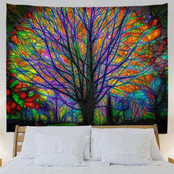 Glowing Tree 3D Printing Home Wall Hanging Tapestry for Decoration - multicolor A W153CMXL102CM