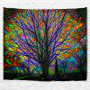 Glowing Tree 3D Printing Home Wall Hanging Tapestry for Decoration - multicolor A W203CMXL153CM