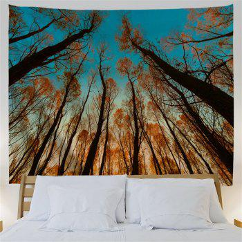 Red Leaf Tree 3D Printing Home Wall Hanging Tapestry for Decoration - multicolor A W153CMXL130CM