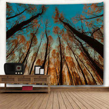 Red Leaf Tree 3D Printing Home Wall Hanging Tapestry for Decoration - multicolor A W229CMXL153CM