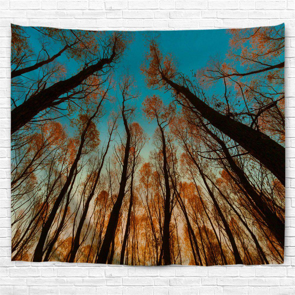 Red Leaf Tree 3D Printing Home Wall Hanging Tapestry for Decoration - multicolor A W153CMXL102CM