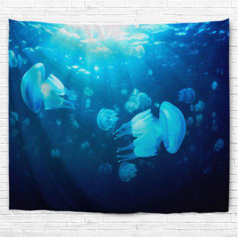 Undersea Jellyfish 3D Printing Home Wall Hanging Tapestry for Decoration - multicolor A W229CMXL153CM