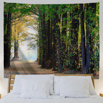 Maple Forest 3D Printing Home Wall Hanging Tapestry for Decoration - multicolor A W153CMXL130CM